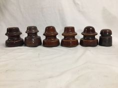 6 VTG BROWN PORCELAIN ELECTRICAL INSULATOR LOCKE INTERESTING NICE GLAZED | Collectibles, Bottles & Insulators, Insulators | eBay!