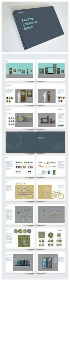 A pattern book for a georgian city Bath wayfinding design guidelines by fwdesign #Wayfinding Design Guidelines, Transport Design, Wayfinding, Signage, Mapping, Infographics www.fwdesign.com