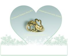 Fashion Ring Twin Hearts Size 4 - Rings ☺. ☺  ☺