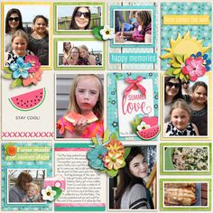 All papers, elements and template - Summer Lovin' Collection by Miss Mel Designs and HeartStrings Scrap Art https://www.pickleberrypop.com/shop/product.php?productid=51469&page=1