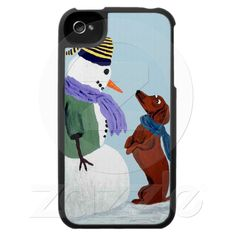 Dachshund And Snowman Speck Case Speck Cases, Weenie Dogs, Jingle Bells, Gift For Lover, Dachshund, Personalized Gifts, Snowman, Create Your Own, Kitty