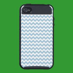 iPhone 4 Skinit Cargo Case Blue and White Chevrons iPhone 4 Covers