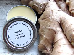 Ginger lip balm by Marble and Milkweed. #jencausey