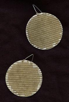 www.gallerysanivia.com  Handmade jewellery  Kolczyki z mosiądzu rękodzieło