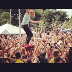 Awolnation. Aaron takes crowd surfing to a whole new level :)