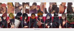 Anime Naruto  Pain (Naruto) Itachi Uchiha Konan (Naruto) Sasuke Uchiha Deidara (Naruto) Jiraiya (Naruto) Madara Uchiha Kisame Hoshigaki Hidan (Naruto) Kakuzu (Naruto) Obito Uchiha Rin Nohara Fondo de Pantalla