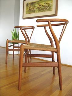Hans Wegner Wishbone chairs. Love those lines.