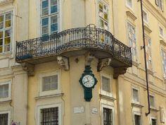 Orologi di strada: Torino: l'orologio di Palazzo Cavour