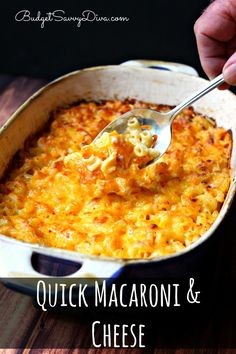 Super quick and delicious Macaroni and Cheese - easy enough for anyone to make.  The recipe is from a vintage recipe box - Quick Macaroni  Cheese