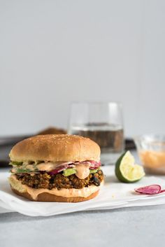 A black bean burger recipe that is made with quinoa, sweet potatoes, black beans and spices.