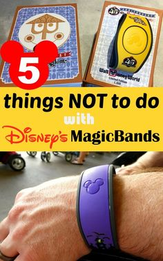 5 Things NOT to do with Disney's MagicBands! It's so much fun learning what Walt Disney World MagicBands can do.but you should also keep in mind that there are a few things you shouldn't try! Here's our list of 5 things NOT to do with your MagicBands. Disney World Vacation Planning, Disney World Florida, Walt Disney World Vacations, Disney Planning, Disney World Resorts, Disney Travel, Disney Parks, Disney Bound, Vacation Ideas