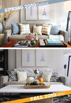 A perfect coffee table makeover