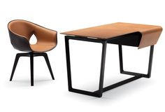 I want you: fred desk + ginger chair  by Roberto Lazzeroni, poltrona frau
