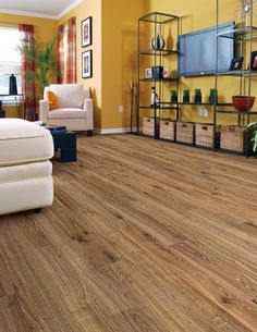 BuildDirect – Laminate - 8mm Collection  – Weathered Oak - Living Room View Love this floor!