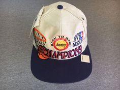 d4a09ec4aa9 HOUSTON ROCKETS HAT Sewn VTG 1995 90s Snapback World Champions Logo 7 NBA  NWT  LogoAthletic