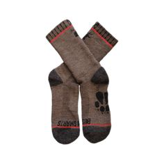 """Hiking Socks - To class them up a bit we hand-stitch the top cuff, but we offer without if you're the """"no cream in my coffee"""" type. Wondering about the Jackalope print on only one foot? Alternating socks from foot to foot makes them last longer. Backpacking Gear, Camping And Hiking, Hiking Gear, Hiking Backpack, Camping Gear, Camping Glamping, Camping Stuff, Outdoor Apparel, Outdoor Gear"""