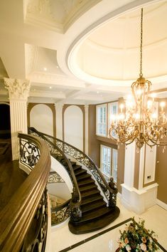Love this mansion foyer's architecture.