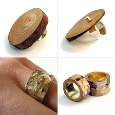 ** Handmade Wood Rings @corinarietveld.nl