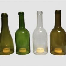 Wine bottle tops make wonderful lanterns