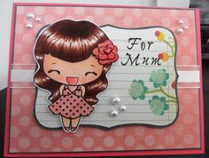 Another Flirty Anya card - The Greeting Farm Stamps