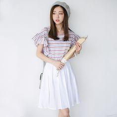 Korean Fashion Striped Dress