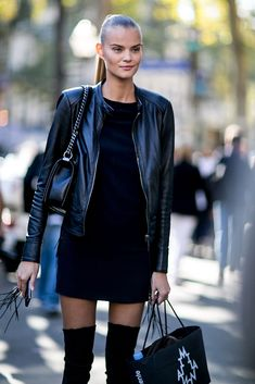 Kate Grigorieva Model off duty street style pfw PFW 2016 ss 2016