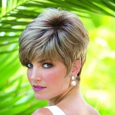 Jax by Noriko Ladies Wigs. Jax has an edgy, tapered cut style with a wispy asymmetric fringe. Part Monofilament top.  Crown: 4.3 Inches  Fringe: 4.3 Inches  Nape: 2 Inches