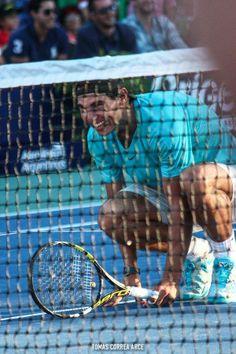 Having fun in a doubles match!  #Nadal/Djokovic vs Nalbandian/Monaco in Buenos Aires