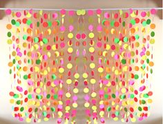 Photo Booth Backdrop, Deluxe Neon Party Package, Paper Garlands, party decorations. $125.00, via Etsy.