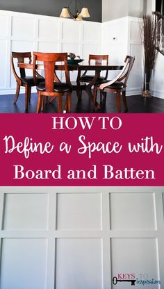 I love the look of modern tall board and batten! It totally changed the look of this space.