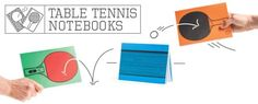 Table Tennis Notebooks - A fun gift for sporty creative types. Set of 3 notebooks, for ideas, sketches and ping-pong…
