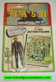 M*A*S*H* mash tv series action figures FATHER MULCAHY 1982 moc mip mib