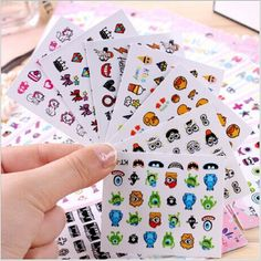24pcs/lot nail art Stickers 3d Beauty Sticker for Nails Harajuku Monsters University Nail Art Charms Manicure Decals Decorations #Affiliate