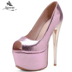 SGESVIER High Heels Pumps Shoes Women Thin High Heel Platdorm Party Wedding Shoes Peep Toe Sexy Fashion Pumps Size 33 48 OX337-in Women's Pumps from Shoes on Aliexpress.com | Alibaba Group #weddingshoes