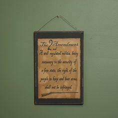 Wood Sign - Plaque -2nd Amendment - Primitive Country Wall Decor #RusticPrimitive
