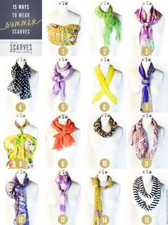 Great ways to style a scarf!