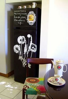 Beyond the Chalkboard Fridge: Decorated Refrigerators | Apartment Therapy