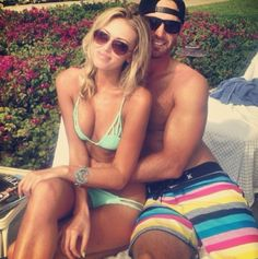 After victory in the 2013 PGA Tour season opener, Dustin Johnson withdrew from the Sony Open the following week. It appears he is getting the necessary TLC from Paulina Gretzky.