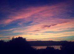 #no#effect#filter#sky#pretty#view#last#night#pink#purple#blue#trees#water#clouds#scotland#greenock#towerhill#f4f#lfl#rfr by lauradorrianx