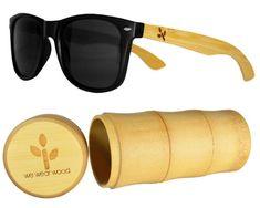 Classic Black Bamboo Sunglasses - WearWood - 1