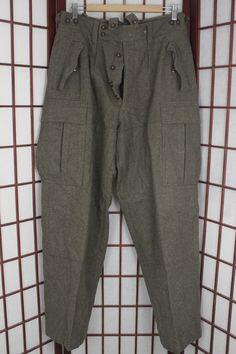 VTG 60S WEST German Army Bundeswehr Wool Pants OD Sz 30 Green Trousers Cold  War - 3a384b978