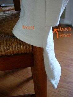 How to Make a Simple Slipcover for Dining Room Chairs | In My Own StyleIn My Own Style