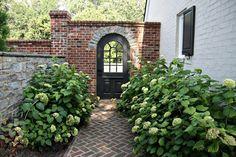 brick doorway to back garden
