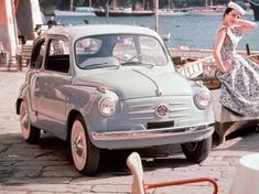 Fiat 600 – not really a sports car, and not as pretty as the Fiat 500 - Exotic Cars Fiat 600, Fiat Cinquecento, Fiat Abarth, Auto Retro, Retro Cars, My Dream Car, Dream Cars, Carros Retro, Automobile