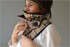 Col hiver façon burberry Burberry, Scarves, Cowls, Winter, Accessories