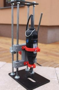 Homemade rotary tool drill press