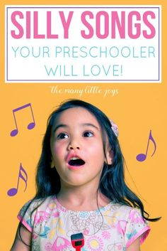 Silly songs your preschooler will love Music is a great way to help kids develop language, motor, and memory skills. Here are eight silly songs that your preschooler is sure to enjoy, and that will make you giggle right along with them. Preschool Songs, Preschool Learning, Kids Songs, Silly Songs For Kids, Toddler Preschool, Early Learning, Music Classroom, Preschool Classroom, Circle Time Songs