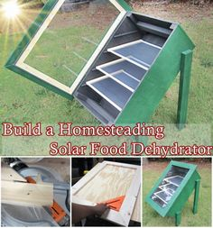 Build a Homesteading Solar Food Dehydrator Homesteading - The Homestead Survival…This step by step tutorial of how to build a homesteading solar food dehydrator can use the sun& powerful rays to remove moisture from fruits, vegetables,Sustainable e Survival Food, Homestead Survival, Camping Survival, Survival Prepping, Emergency Preparedness, Survival Skills, Survival Quotes, Permaculture, Alternative Energie