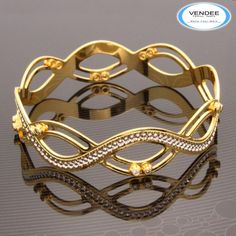 CZ Diamond Party Bangle 7532 - Online Shopping for Bracelets n Bangles by Vendee Fashion Pink Jewelry, Turquoise Jewelry, India Jewelry, Butterfly Jewelry, Amber Jewelry, Gold Bracelet For Women, Gold Bangles Design, Diamond Bangle, Diamond Rings