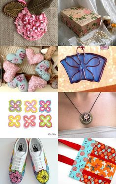 Floral  by Sissy Atsidakou on Etsy--Pinned with TreasuryPin.com